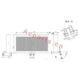 EV 8005PFXC AUTO CAR Air Conditioning A/C Evaporator Core FOR MASSY FERGUSON
