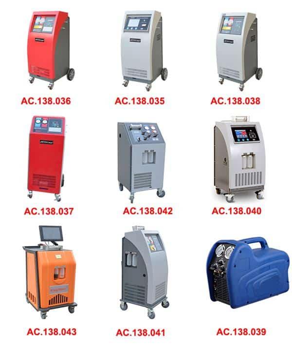 car ac refrigerant recovery machine